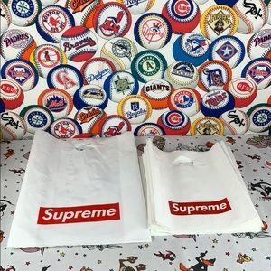 Authentic Supreme shopping tote bags